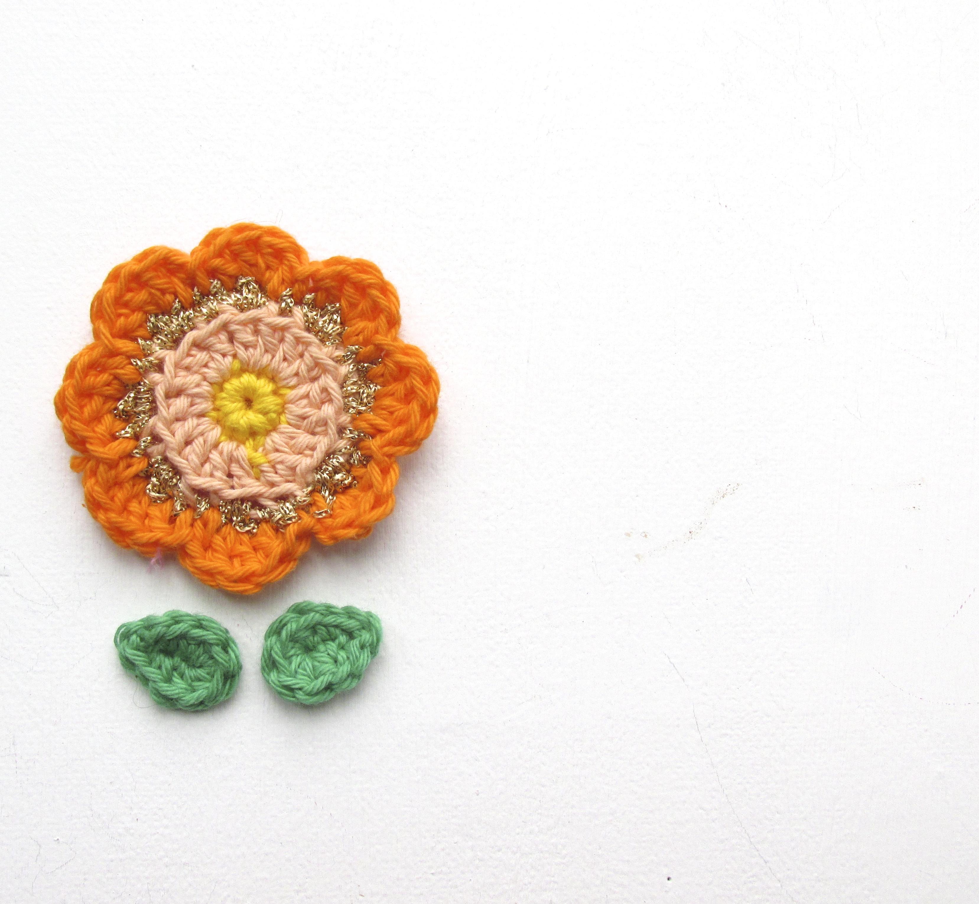 crochet folk flower