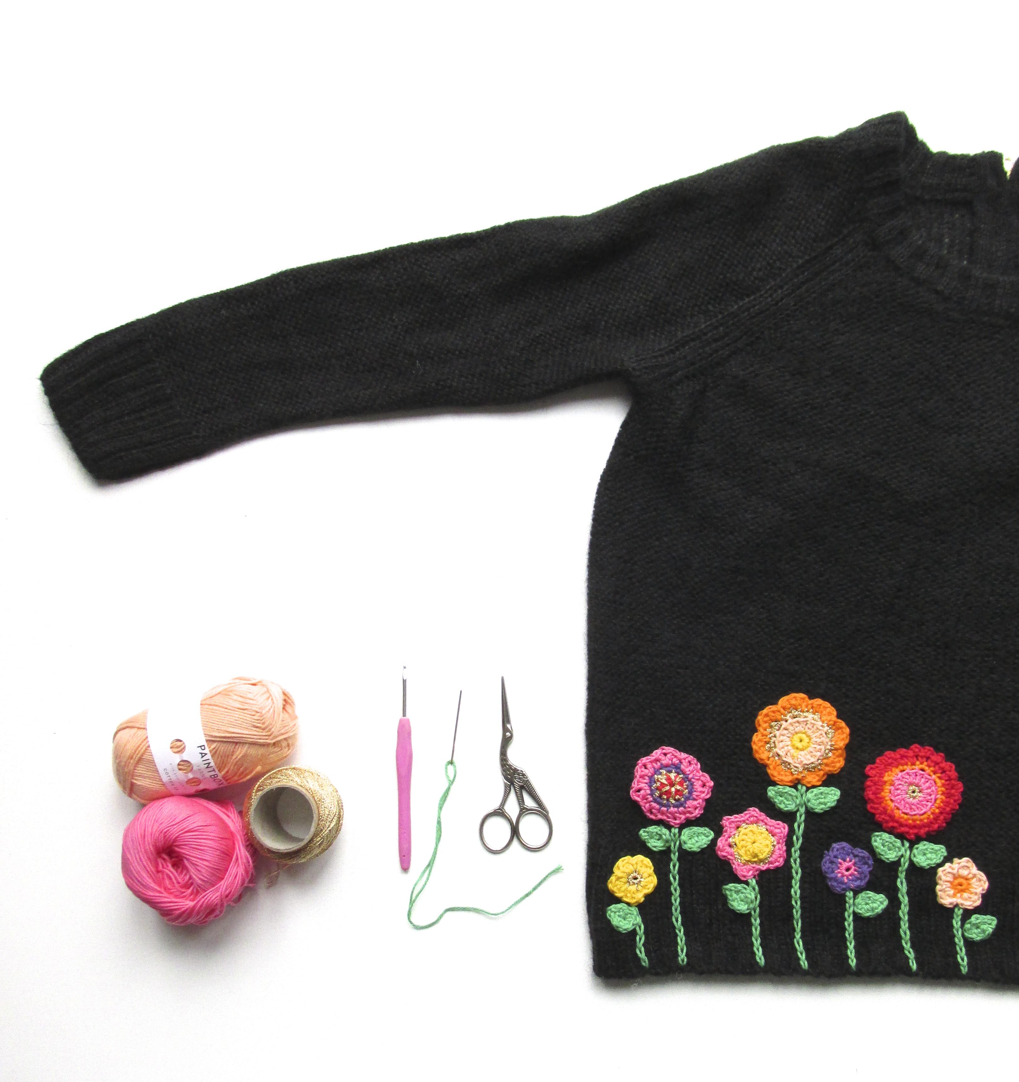 flowers sweater jumper