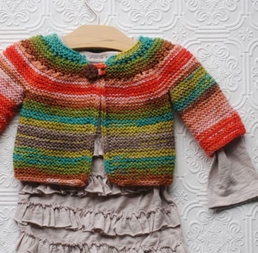 Baby top down in Liberty Wool