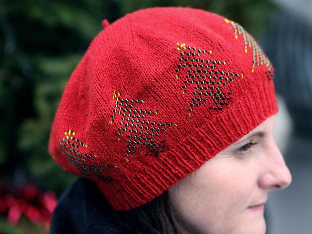 Christmas tree beret