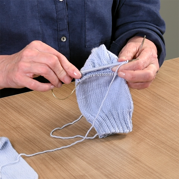 Shaping a gusset