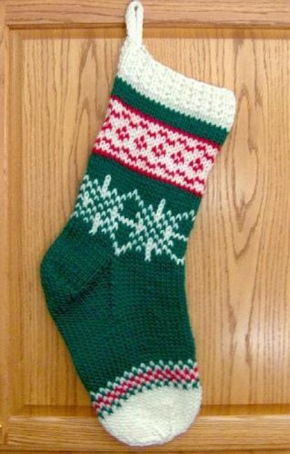 Fair Isle Christmas stocking by Denise Balvanz