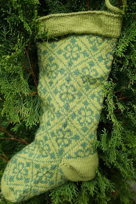 Fleur de Noel Christmas stockings by Karen Fletcher