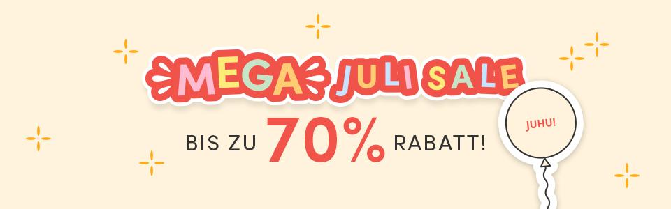 Mega Juli Sale! Bis zu 70 Prozent Rabatt!