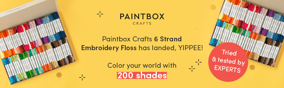 Explore the colorful world of Paintbox Crafts 6 Strand Embroidery Floss!
