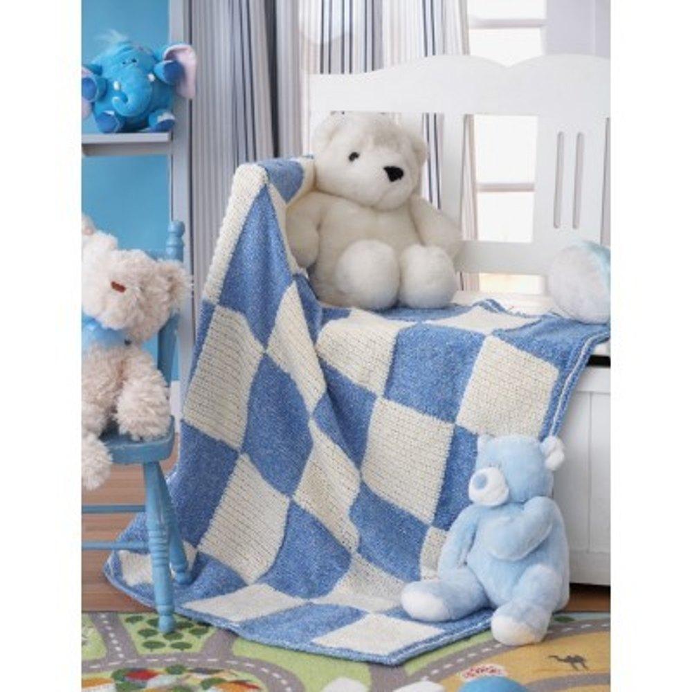 Baseball Blanket in Bernat Baby Coordinates Solids