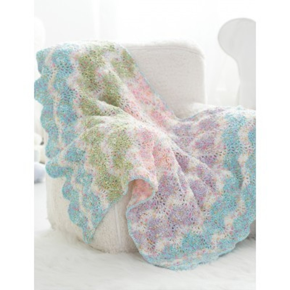 Chevron Stripes Baby Blanket in Bernat Dippity Dots