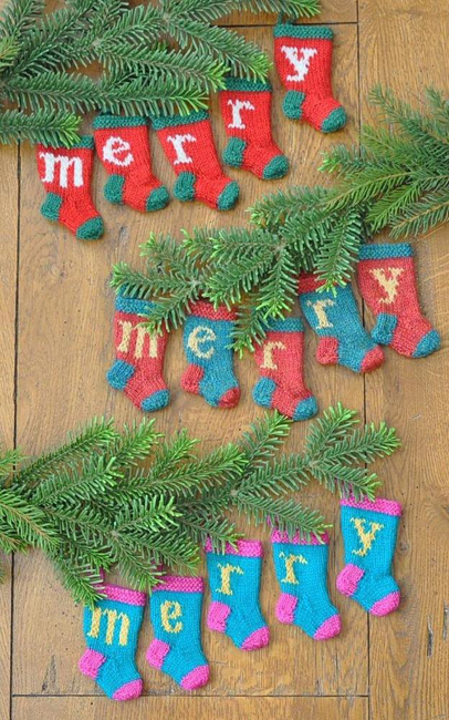 Merry Christmas stocking ornaments by Karen DiTommaso