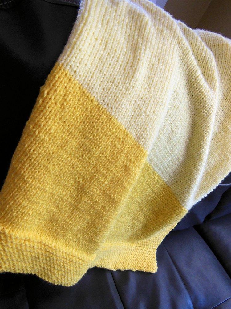 Classic 2-Tone Baby Blanket by Diana Poirier