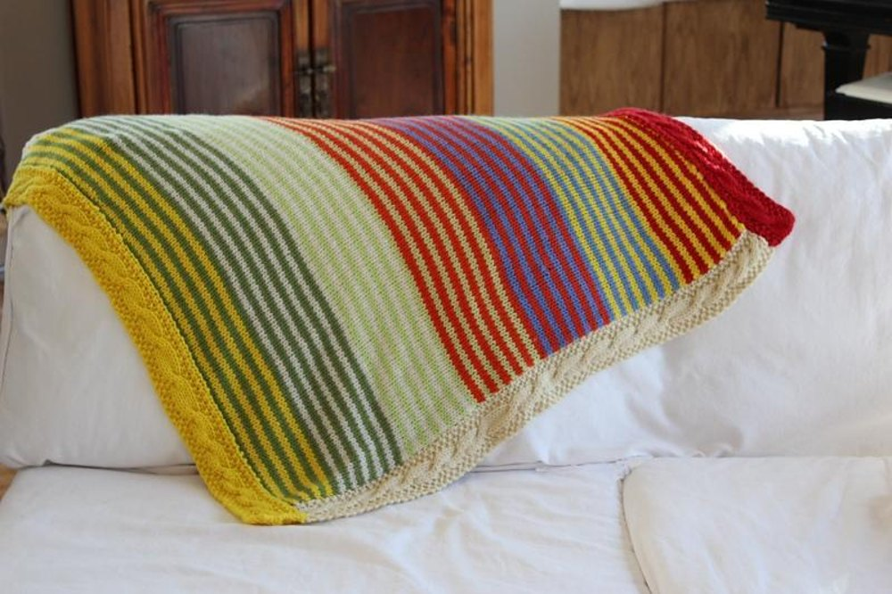 Super Striped Baby Blanket by Vanessa Cayton