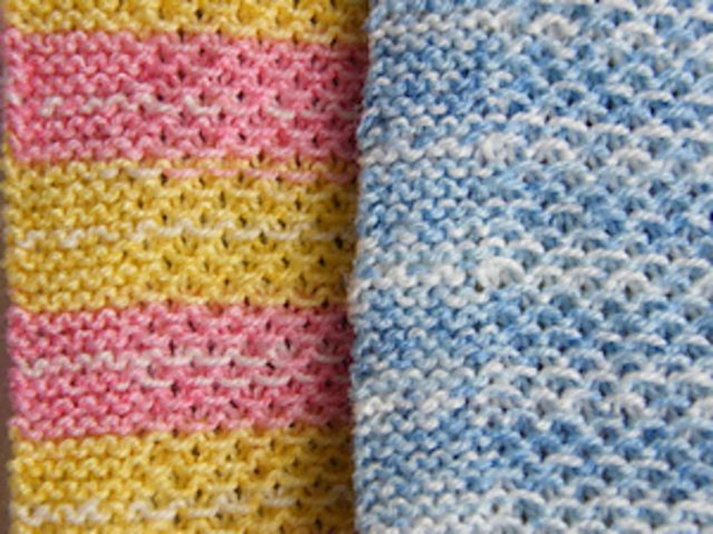 Easy Summer Rain Baby Blanket by Impeccable Knits